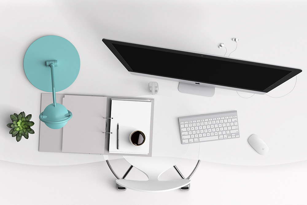 Orderly Desk Top from the Small Business Simplifier