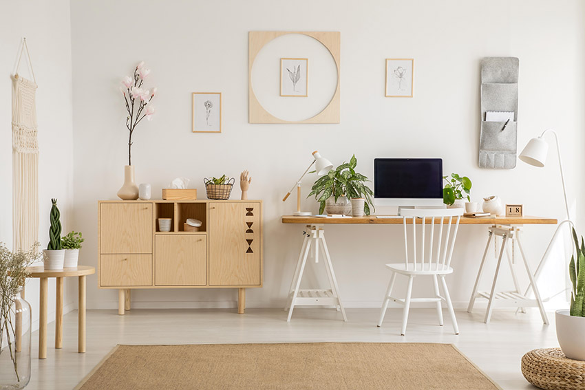 an organized and comfortable home office