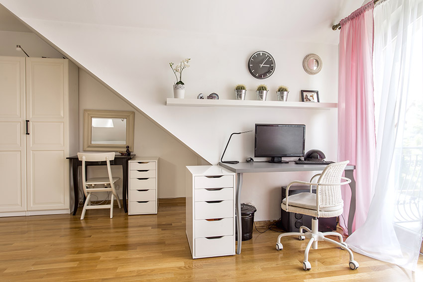 planning natural light in a home office