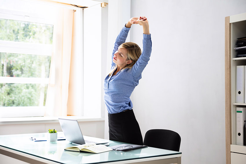 step away from the computer and take a stretch